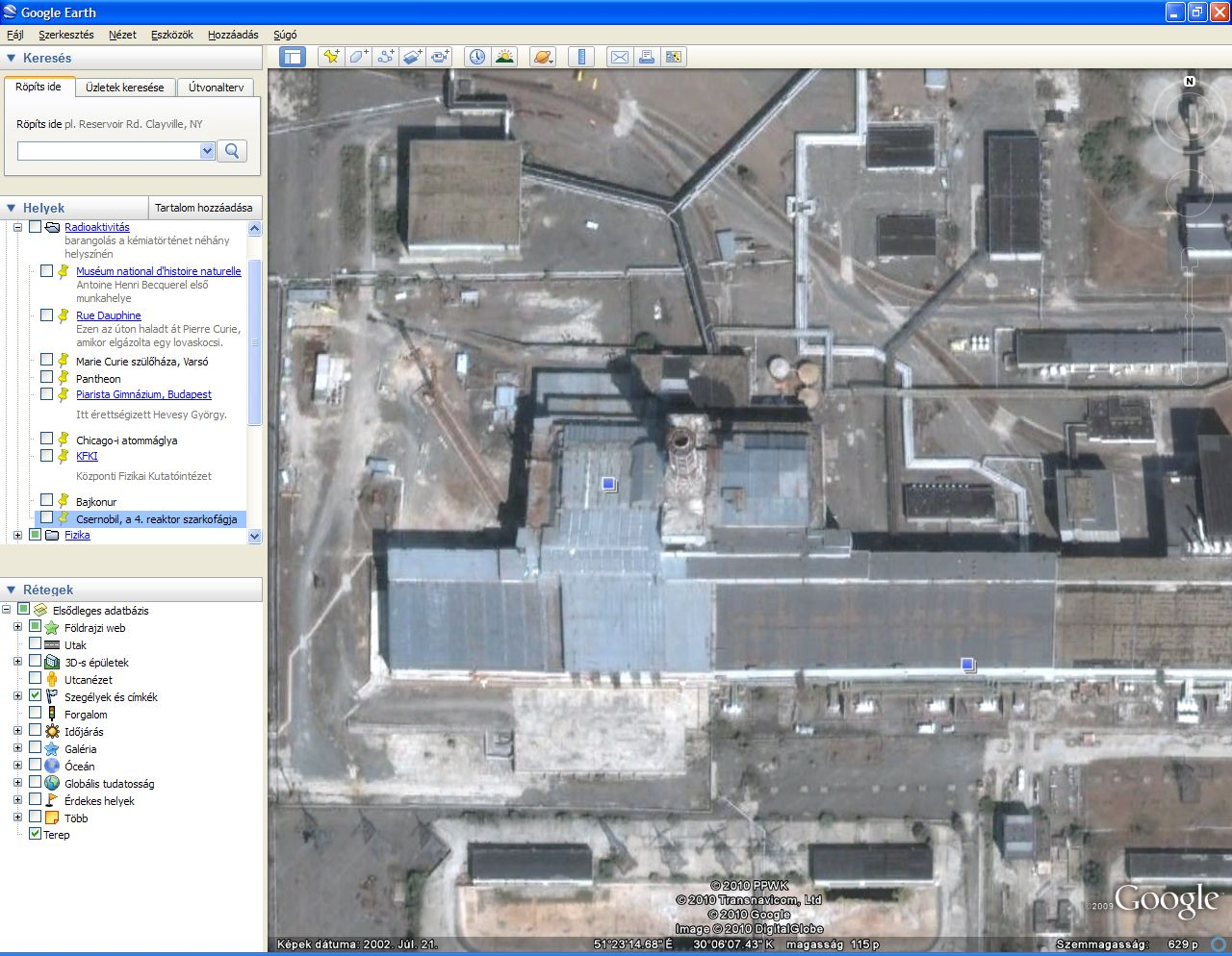 Geolocation olarex english or you can use google earth even to visit the sarcophagus of reactor 4 of the chernobyl nuclear power plant ccuart Images